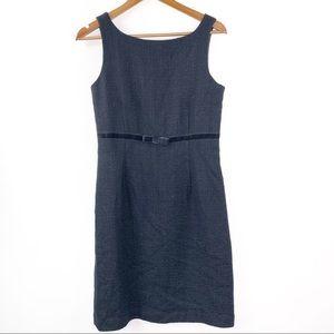 Gap 8 Tweed Dress Black Wool Career Knee Length M